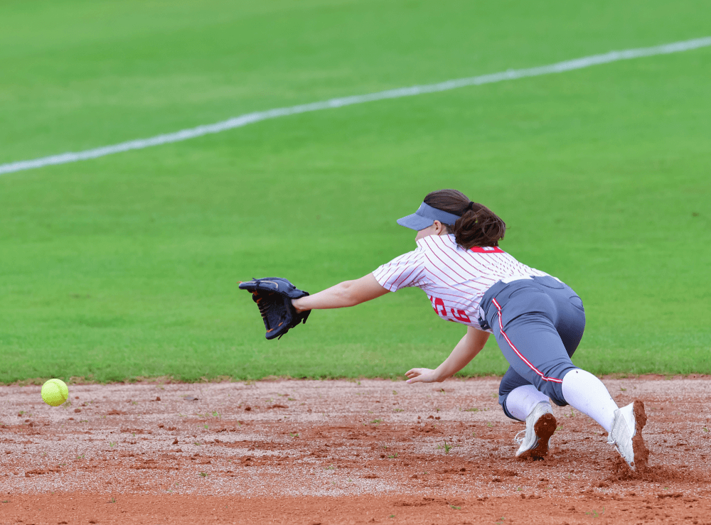 Fastpitch Softball Player Making a Great Catch